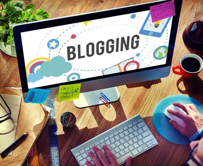 Blogging Blog Internet Media Networking Social Concept